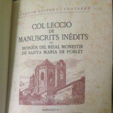 Libros antiguos: MANUSCRITOS DE POBLET. Lote 133482926