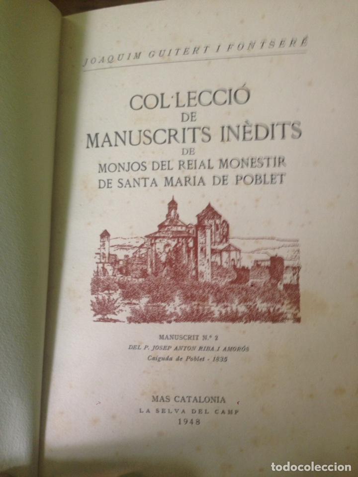 Libros antiguos: Manuscritos de Poblet - Foto 4 - 133482926