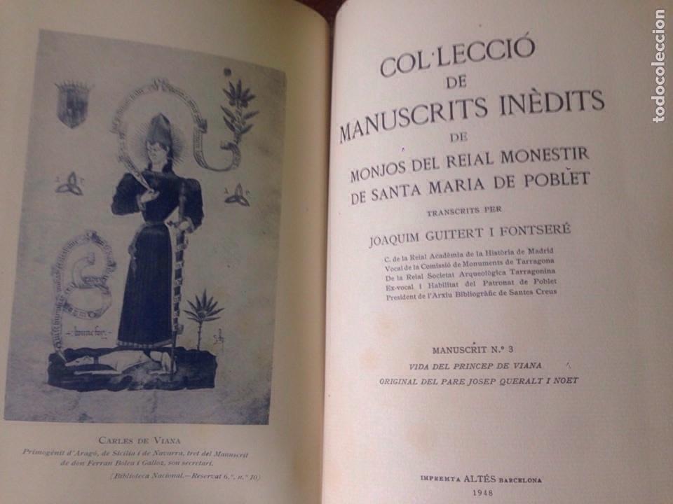 Libros antiguos: Manuscritos de Poblet - Foto 6 - 133482926