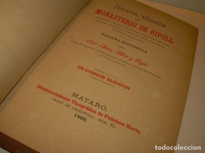 Libros antiguos: INTERESANTE LIBRO TAPAS DE PIEL..SANTA MARIA DEL MONASTERIO DE RIPOLL...AÑO 1888. - Foto 2 - 135332154