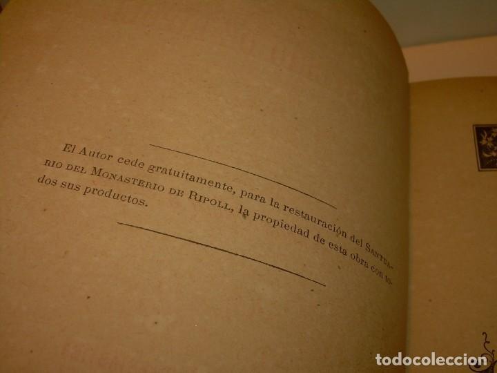 Libros antiguos: INTERESANTE LIBRO TAPAS DE PIEL..SANTA MARIA DEL MONASTERIO DE RIPOLL...AÑO 1888. - Foto 3 - 135332154