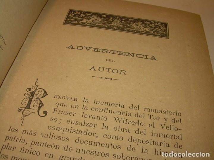 Libros antiguos: INTERESANTE LIBRO TAPAS DE PIEL..SANTA MARIA DEL MONASTERIO DE RIPOLL...AÑO 1888. - Foto 4 - 135332154