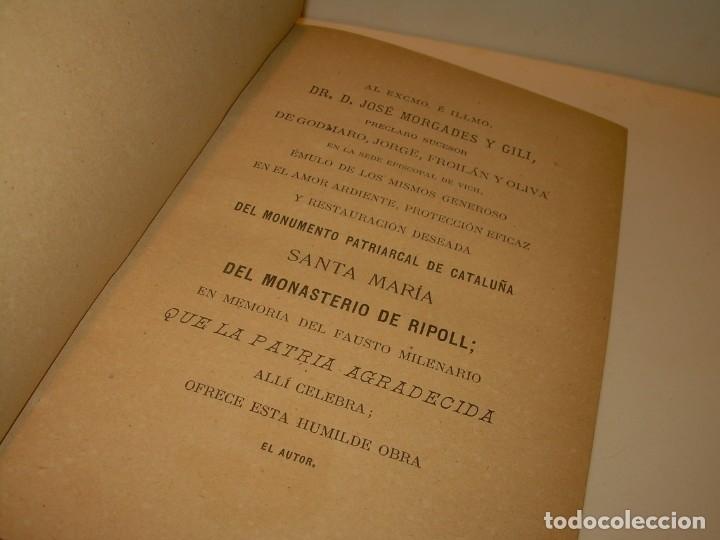 Libros antiguos: INTERESANTE LIBRO TAPAS DE PIEL..SANTA MARIA DEL MONASTERIO DE RIPOLL...AÑO 1888. - Foto 5 - 135332154