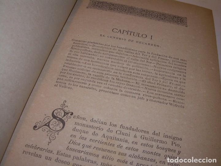 Libros antiguos: INTERESANTE LIBRO TAPAS DE PIEL..SANTA MARIA DEL MONASTERIO DE RIPOLL...AÑO 1888. - Foto 6 - 135332154