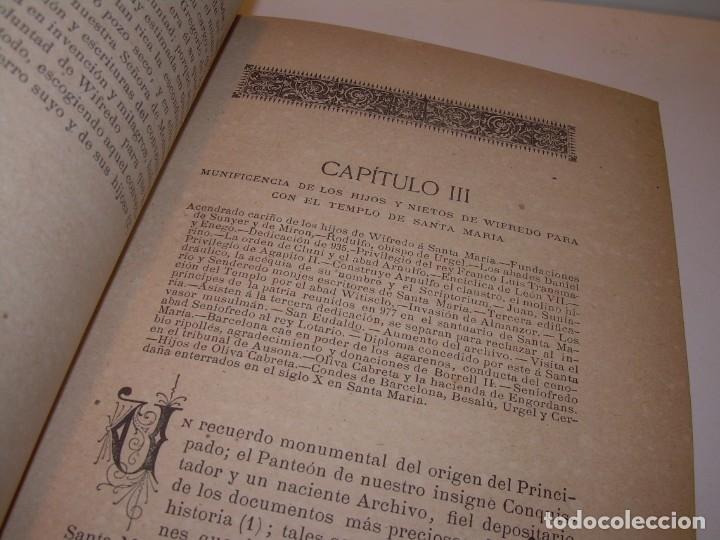 Libros antiguos: INTERESANTE LIBRO TAPAS DE PIEL..SANTA MARIA DEL MONASTERIO DE RIPOLL...AÑO 1888. - Foto 7 - 135332154