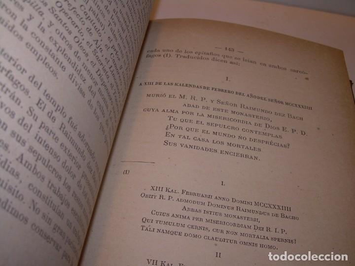 Libros antiguos: INTERESANTE LIBRO TAPAS DE PIEL..SANTA MARIA DEL MONASTERIO DE RIPOLL...AÑO 1888. - Foto 9 - 135332154