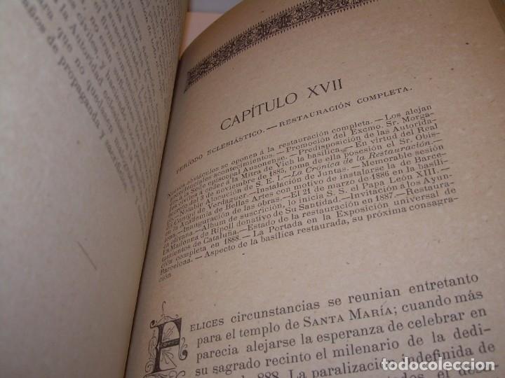 Libros antiguos: INTERESANTE LIBRO TAPAS DE PIEL..SANTA MARIA DEL MONASTERIO DE RIPOLL...AÑO 1888. - Foto 11 - 135332154