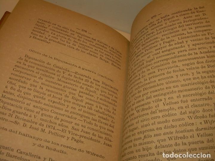 Libros antiguos: INTERESANTE LIBRO TAPAS DE PIEL..SANTA MARIA DEL MONASTERIO DE RIPOLL...AÑO 1888. - Foto 12 - 135332154