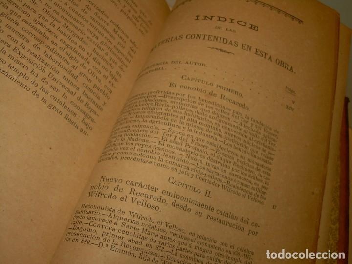 Libros antiguos: INTERESANTE LIBRO TAPAS DE PIEL..SANTA MARIA DEL MONASTERIO DE RIPOLL...AÑO 1888. - Foto 15 - 135332154
