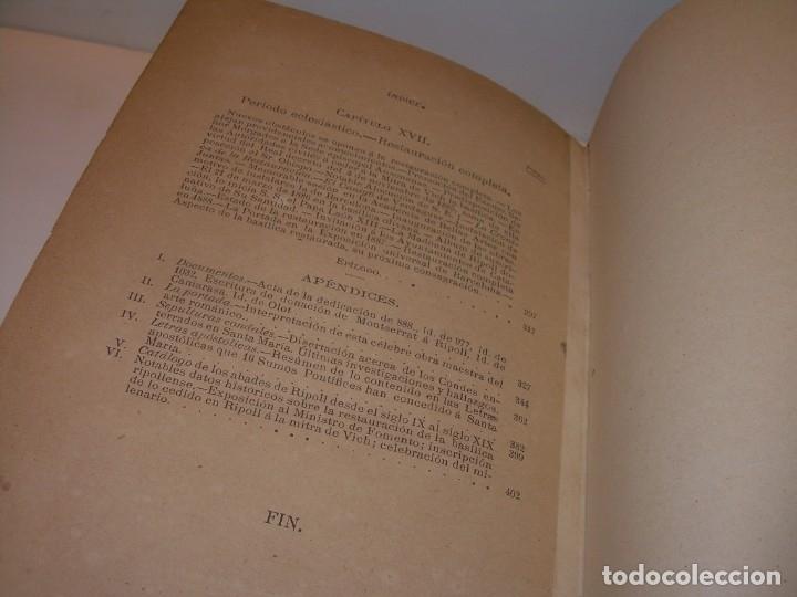Libros antiguos: INTERESANTE LIBRO TAPAS DE PIEL..SANTA MARIA DEL MONASTERIO DE RIPOLL...AÑO 1888. - Foto 19 - 135332154