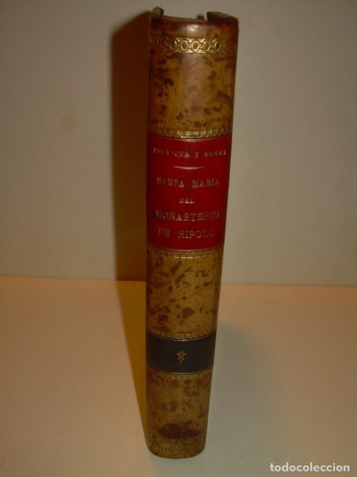 Libros antiguos: INTERESANTE LIBRO TAPAS DE PIEL..SANTA MARIA DEL MONASTERIO DE RIPOLL...AÑO 1888. - Foto 21 - 135332154