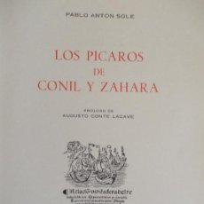 Libros antiguos: LOS PICAROS DE CONIL Y ZAHARA PABLO ANTÓN 1965. Lote 135487946