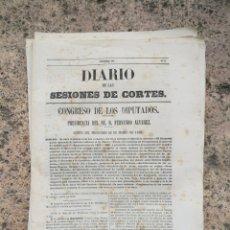 Libros antiguos: DIARIO DE LAS CORTES PRESUPUESTOS DEL ESTADO AÑO 1865 1866. Lote 135670485