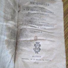 Libros antiguos: MEMORIAS PARA SERVIR A LA HISTORIA ECLESIÁSTICA DURANTE EL SIGLO XVIII - ?DON VICENTE XIMÉNEZ 1815. Lote 136069006