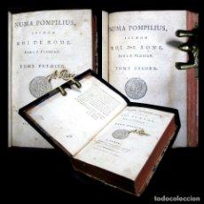 Alte Bücher - Año 1794 Numa Pompilius segundo rey de Roma 2 tomos en 1 volumen Antigua Roma Mitología Florian - 136082734