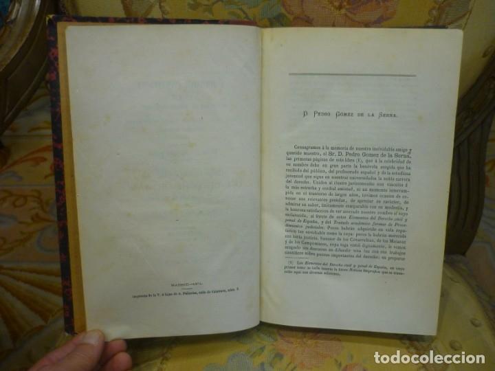 Libros antiguos: INSTITUCIONES DE JUSTINIANO. CURSO HISTÓRICO-EXEGÉTICO DEL DERECHO ROMANO COMPARADO CON EL.......... - Foto 6 - 136355886
