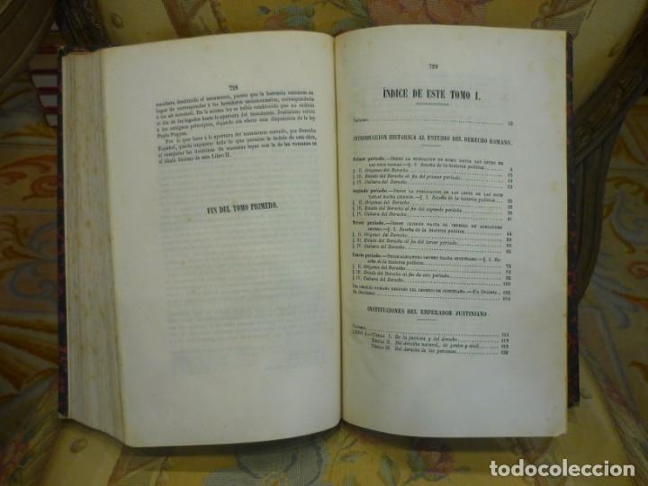 Libros antiguos: INSTITUCIONES DE JUSTINIANO. CURSO HISTÓRICO-EXEGÉTICO DEL DERECHO ROMANO COMPARADO CON EL.......... - Foto 10 - 136355886