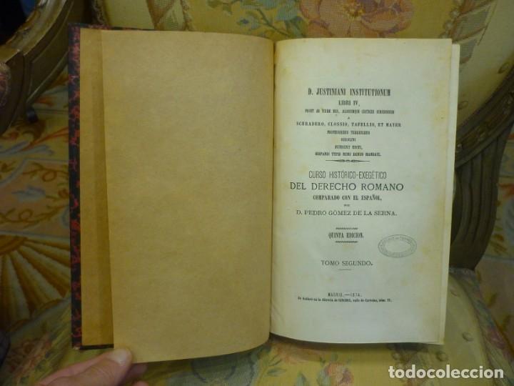 Libros antiguos: INSTITUCIONES DE JUSTINIANO. CURSO HISTÓRICO-EXEGÉTICO DEL DERECHO ROMANO COMPARADO CON EL.......... - Foto 13 - 136355886