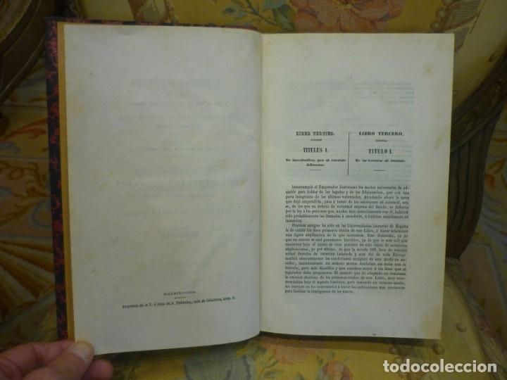 Libros antiguos: INSTITUCIONES DE JUSTINIANO. CURSO HISTÓRICO-EXEGÉTICO DEL DERECHO ROMANO COMPARADO CON EL.......... - Foto 14 - 136355886