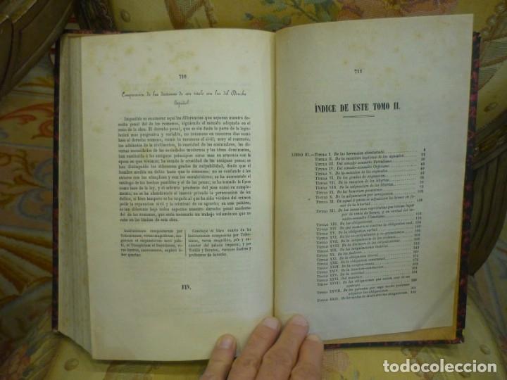 Libros antiguos: INSTITUCIONES DE JUSTINIANO. CURSO HISTÓRICO-EXEGÉTICO DEL DERECHO ROMANO COMPARADO CON EL.......... - Foto 18 - 136355886