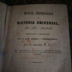 Libros antiguos: HISTORIA UNIVERSAL. 1847.. Lote 136444828