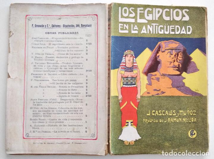 Libros antiguos: LOS EGIPCIOS EN LA ANTIGUEDAD - J. CASCALES Y MUÑOZ - F. GRANADA Y CIA. EDITORES - BARCELONA - Foto 2 - 136621294