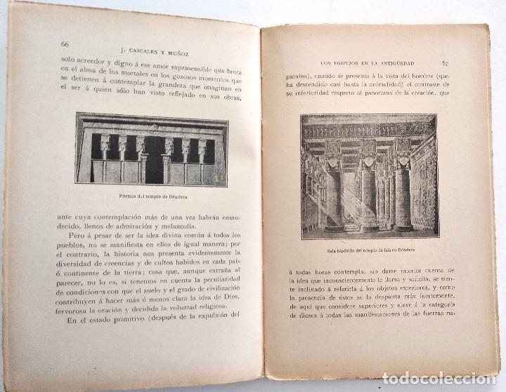 Libros antiguos: LOS EGIPCIOS EN LA ANTIGUEDAD - J. CASCALES Y MUÑOZ - F. GRANADA Y CIA. EDITORES - BARCELONA - Foto 4 - 136621294