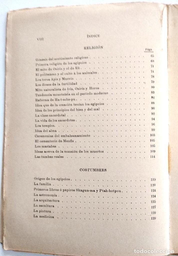 Libros antiguos: LOS EGIPCIOS EN LA ANTIGUEDAD - J. CASCALES Y MUÑOZ - F. GRANADA Y CIA. EDITORES - BARCELONA - Foto 7 - 136621294
