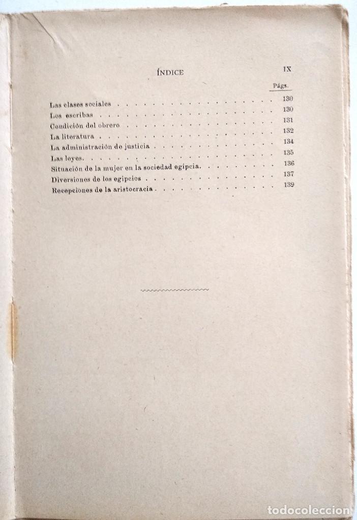 Libros antiguos: LOS EGIPCIOS EN LA ANTIGUEDAD - J. CASCALES Y MUÑOZ - F. GRANADA Y CIA. EDITORES - BARCELONA - Foto 8 - 136621294