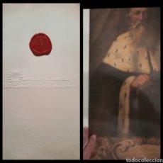 Libros antiguos: ORDENACIÓN Y CEREMONIAL DE LA CORONACIÓN DE LOS REYES DE ARAGÓN .DOSSIER PRESENTACIÓN 50X42 CM.. Lote 136571249