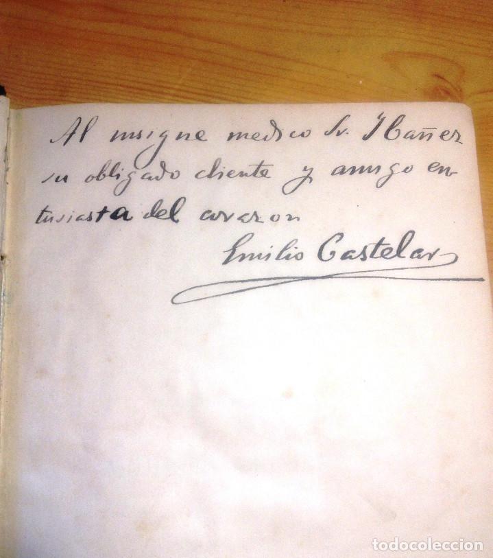 Libros antiguos: GALERIA HISTORICA DE MUJERES CÉLEBRES- EMILIO CASTELAR- 1886- FIRMA AUTOGRAFA DE CASTELAR- - Foto 2 - 138246062