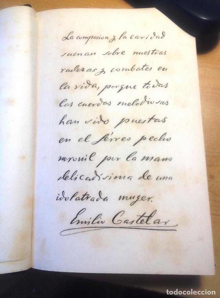 Libros antiguos: GALERIA HISTORICA DE MUJERES CÉLEBRES- EMILIO CASTELAR- 1886- FIRMA AUTOGRAFA DE CASTELAR- - Foto 7 - 138246062