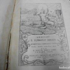 Libros antiguos: AÑO 1863 - HISTORIA DE LA CIUDAD DE SALAMANCA DE BERNARDO DORADO Y AUMENTADA - LIBRO FALTO. Lote 138609414