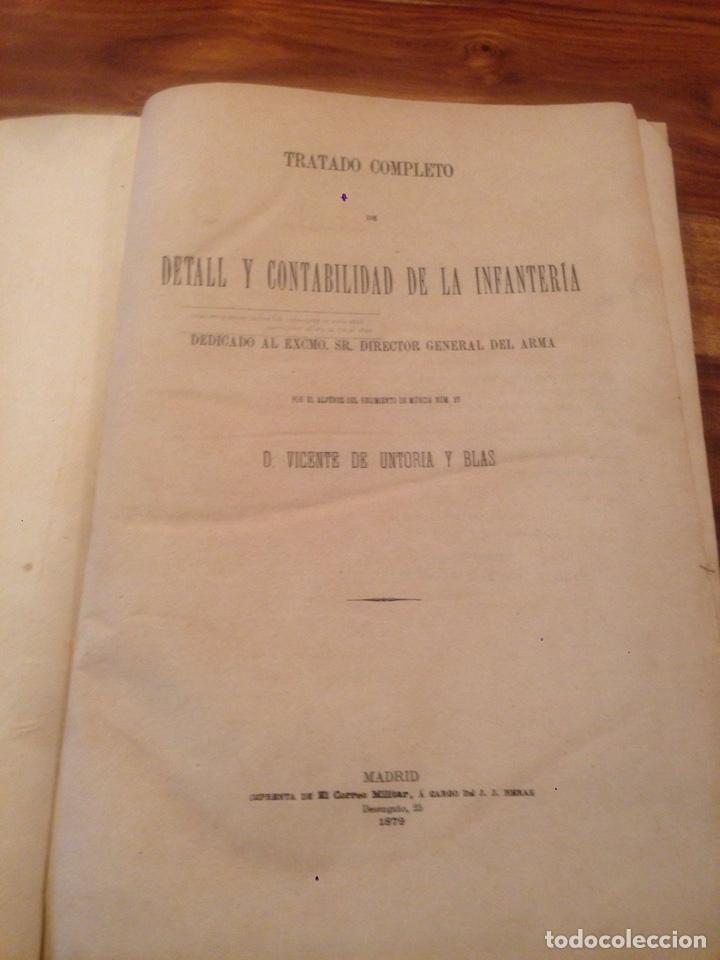 Libros antiguos: Tratado de contabilidad de infanteria - Foto 2 - 138791398