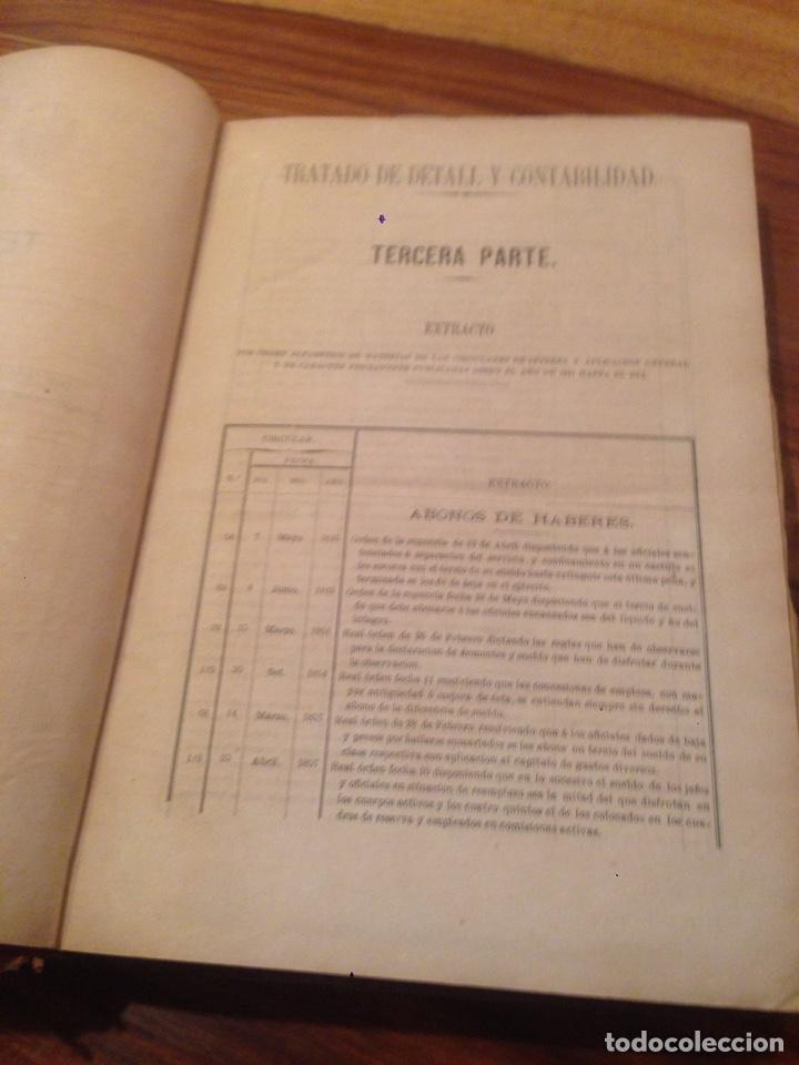 Libros antiguos: Tratado de contabilidad de infanteria - Foto 4 - 138791398