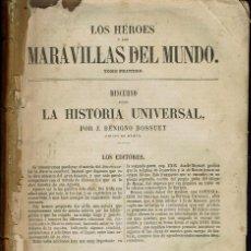 Libros antiguos: LOS HÉROES Y LAS MARAVILLAS DEL MUNDO. TOMO I. AÑO 1854. (11.7). Lote 139051162