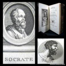 Libros antiguos: AÑO 1825 VIDAS DE LOS FILÓSOFOS DE LA ANTIGÜEDAD 26 GRABADOS SÓCRATES PLATÓN DIÓGENES ARISTÓTELES.... Lote 103546735