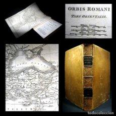 Libros antiguos: AÑO 1823 CAIDA DEL IMPERIO ROMANO MAPA DESPLEGABLE ANTIGUA ROMA EMPERADORES CONSTANTINOPLA. Lote 109127703