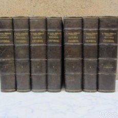 Libros antiguos: HISTORIA UNIVERSAL CÉSAR CANTÚ POR NICOLAS MARIA SERRANO 6 VOLUMENES + 1 COMPENDIO. Lote 139723174