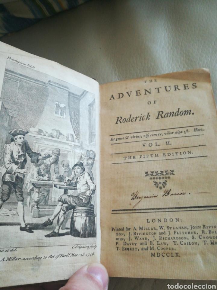 THE ADVENTURES OF REDERICK RANDOM 1760 (Libros antiguos (hasta 1936), raros y curiosos - Historia Antigua)