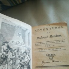 Libros antiguos: THE ADVENTURES OF REDERICK RANDOM 1760. Lote 140268833