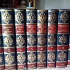 Libros antiguos: HISTORIA DE ESPAÑA ILUSTRADA COMPLETA 13 VOLUMENES DE TUÑON DE LARA-EDITORIAL LABOR 1ª EDICION-1986. Lote 140269378