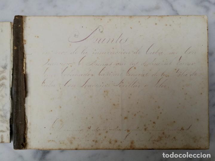 Libros antiguos: Manuscrito Guerra de la independencia de Cuba 1868 1878 - Foto 2 - 140329082