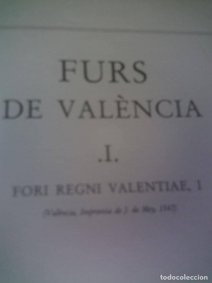 ~~~~ ELS FURS DE VALENCIA, 4 TOMOS FACSIMIL, COL-LECCIÓ PEREZ BAYER, MIDEN 39 X 25 CM. ~~~~ (Libros antiguos (hasta 1936), raros y curiosos - Historia Antigua)