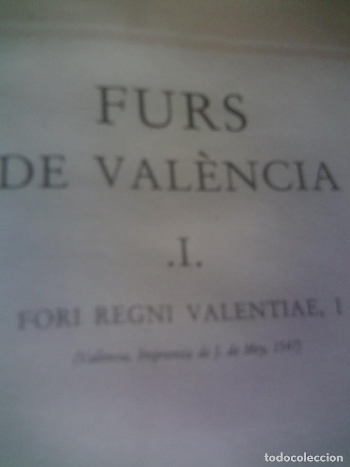 Libros antiguos: ~~~~ ELS FURS DE VALENCIA, 4 TOMOS FACSIMIL, COL-LECCIÓ PEREZ BAYER, MIDEN 39 X 25 CM. ~~~~ - Foto 9 - 140554446