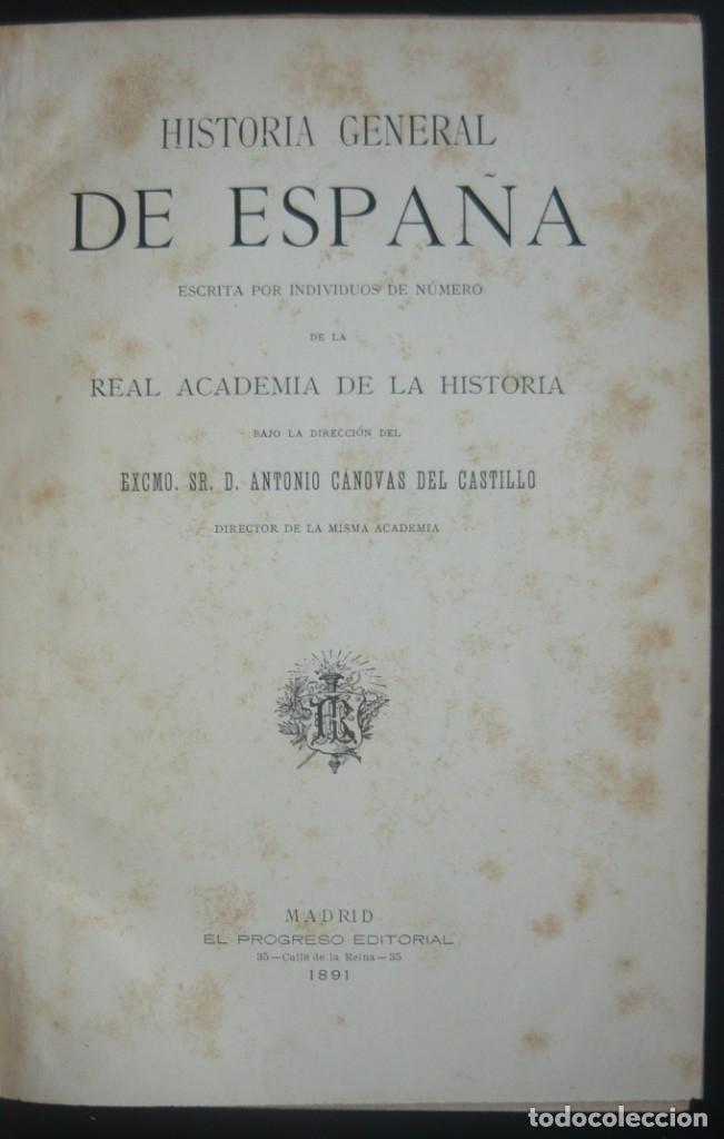 Libros antiguos: 1891 - Monumental Historia Medieval de España - Reyes Cristianos - Edad Media - Ilustrado, Láminas - Foto 6 - 147289893