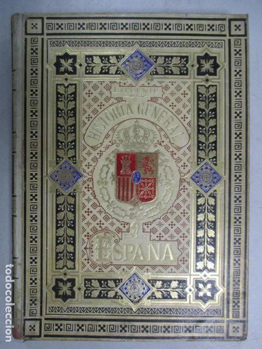 Libros antiguos: HISTORIA GENERAL DE ESPAÑA 1877. MODESTO LAFUENTE. EDICIÓN DE LUJO. 5 TOMOS. 34.5 X 25 CM - Foto 7 - 140848070