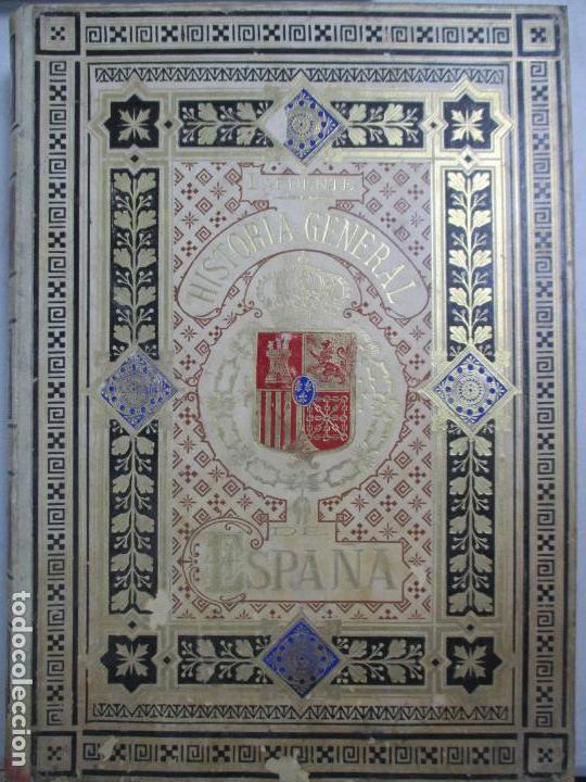 Libros antiguos: HISTORIA GENERAL DE ESPAÑA 1877. MODESTO LAFUENTE. EDICIÓN DE LUJO. 5 TOMOS. 34.5 X 25 CM - Foto 9 - 140848070