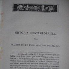 Libros antiguos: HISTORIA CONTEMPORANEA 1854 GENERAL ANTONIO L DE LETONA .AÑO 1881. Lote 140858522