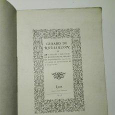 Libros antiguos: GERARD DE ROUSSILLON. LYON, LOUIS PERRIN 1856. . Lote 141069306